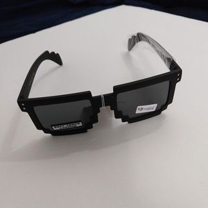 Boxy Pixelated Square Soft Touch Sunglasses